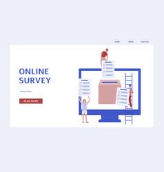 Online survey banner - customer feedback and vector