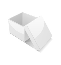 open white gift box vector image