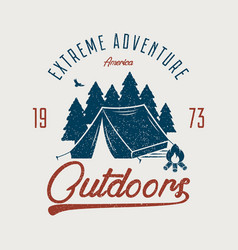 outdoors t-shirt vector image