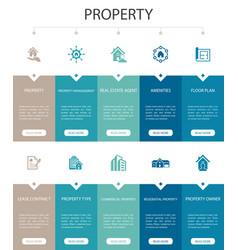 Property infographic 10 option ui design vector