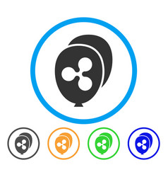 Ripple balloons rounded icon vector
