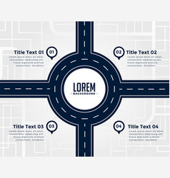 road infographic four steps template vector image