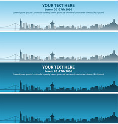 san francisco skyline event banner vector image