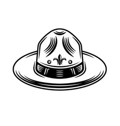 Scout hat graphic object or design element vector