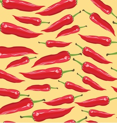 Seamless pattern with red chili peppers - vector