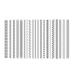 set line art decorative elements border vector image