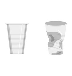 Set of plastic cups vector