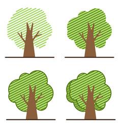 set tree icon logo vector image