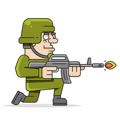 Shoot soldiers colored and isolated handmade vector