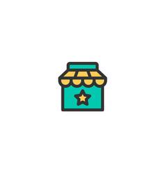 shop icon design e-commerce icon design vector image