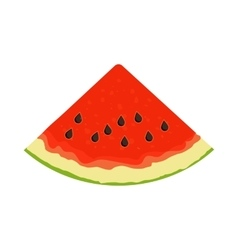Slice of watermelon icon vector image