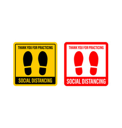 Social distance signage icon please wait here vector