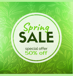 spring sale discount card vector image
