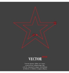 star web icon flat design vector image