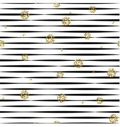 Striped black and white seamless pattern with vector
