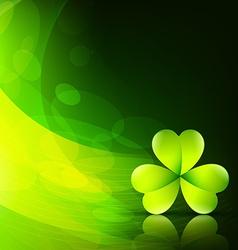 Stylish green leaf vector