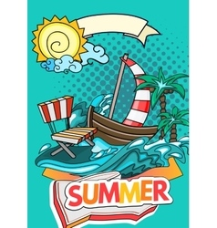 Summer style background vector
