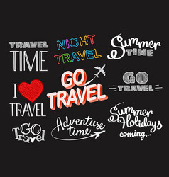 Summer time logo set vector