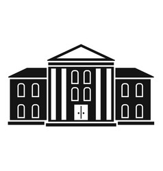supreme courthouse icon simple style vector image