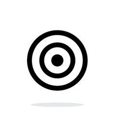 Target icon on white background vector image