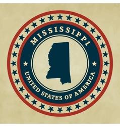 Vintage label Mississippi vector image