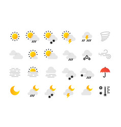 weather line icons interface infographic elements vector image