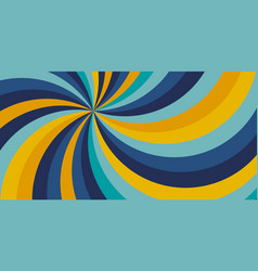 yellow and blue color swirly background vector image