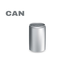 Aluminium Can isolated on white background vector image