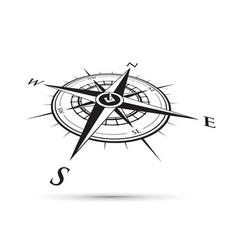 black compass vector image