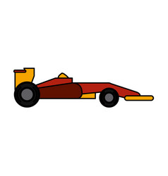 car racing related icon image vector image