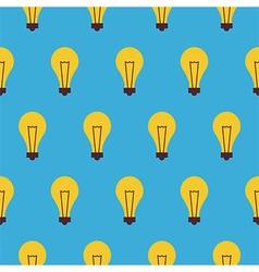 Flat Seamless Pattern Creativity Idea Lamp vector image