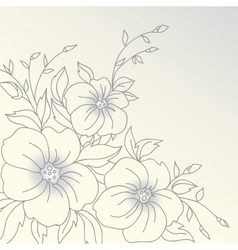flowers Hand drawn vector image vector image