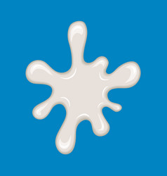 milk splash isolated on blue vector image vector image