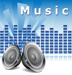 Music background with speakers vector image vector image