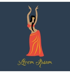 oriental dancer vector image