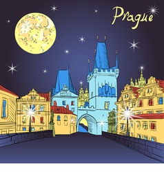 Charles Bridge in Prague vector image