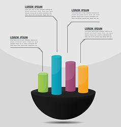 Info Graphic Cylinder Template Presentation vector image vector image