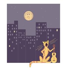 night singer vector image