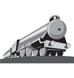Steam Train Locomotive Retro vector image vector image