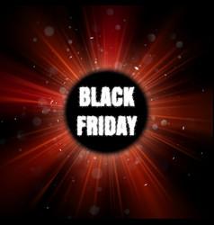 Black friday red burst poster eps 10 vector