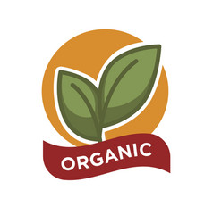 organic food fresh from farm label vector image vector image