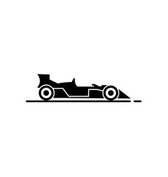 racing car icon vector image vector image