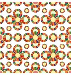Seamless geometric pattern flowers bright vector image