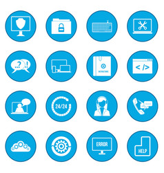 support call center icon blue vector image