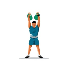 Weight lifting sign vector image