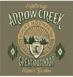 Arrow Creek the great outdoo vector image vector image
