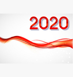 2020 abstract new year on background of vector image