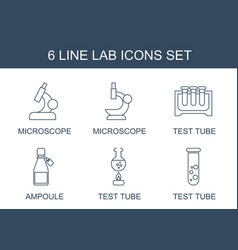 6 lab icons vector