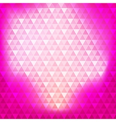 Abstract background pink continuous triangle vector