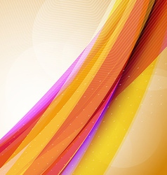 Abstract colorful futuristic wave background eps10 vector
